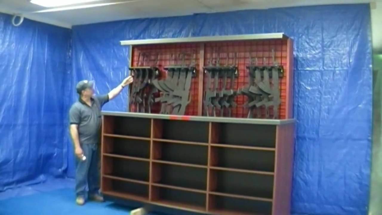 Assault Rifle Lift Case Display Solutions Of Topeka Youtube