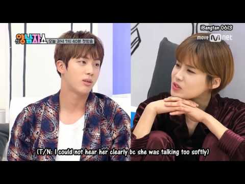 [ENG SUBS] 170223 BTS New Yang Nam Show PREVIEW 5: Jin and V trying to win MC Doyeon's Heart
