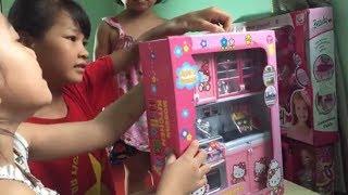 DH Channel Kim Oanh vs Ngọc Lan khui hộp Bộ đồ chơi nhà bếp