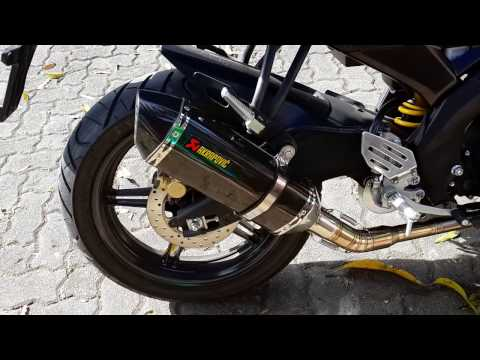 Engine sound Yamaha YZF-R15 Akrapovic Full System