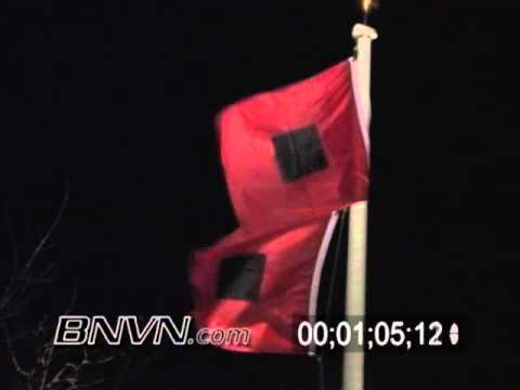 10/24/2005 Hurricane Wilma nearing Marco Island Florida. Hurricane flags blowing in the wind