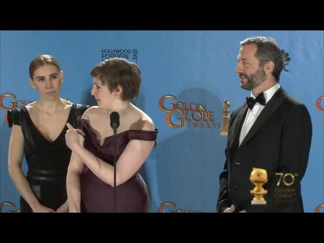 Backstage with cast & producers of Girls, best series, best actress comedy