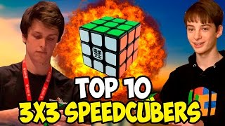 Top 10 3x3 Speedcubers 2016
