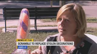 Real-life Grinch steals Christmas decorations ahead of LaBelle's Candy Cane Festival