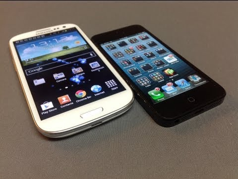 iPhone 5 versus Galaxy S III comparativos