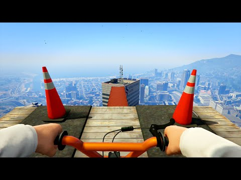 GTA 5 Xbox One - Insane First Person Stunt Races (GTA 5 Funny Moments)