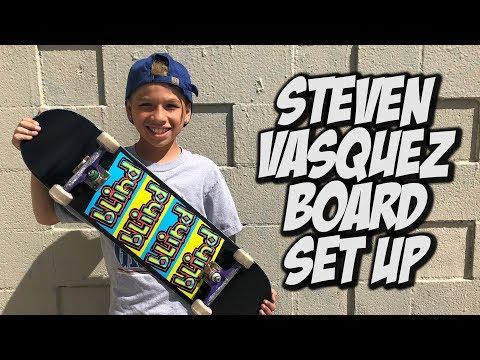 STEVEN VASQUEZ BOARD SET UP AND INTERVIEW !!!