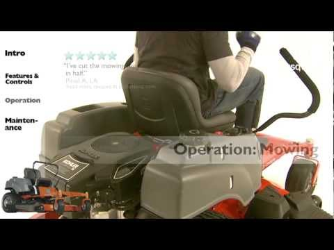 Husqvarna RZ-series Zero Turn Mowers: Operation