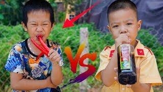 Trò Chơi Thử Thách Ăn Đồ Ăn - Bé Nhím TV - Đồ Chơi Trẻ Em Thiếu Nhi