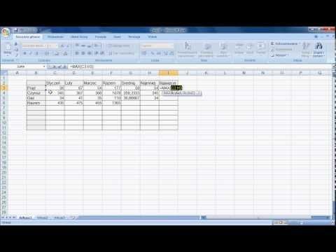Excel - Jak Zrobić Tabelę, Jak Użyć Funkcji Autosumowanie Oraz Jak Zrobić Wykres