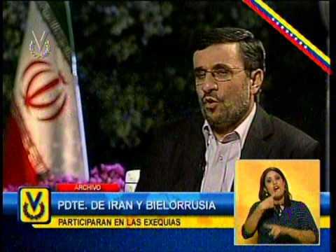 Presidente iraní Mahmud Ahmadinejad asistirá al funeral de Hugo Chávez