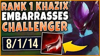 RANK 1 KHA'ZIX WORLD EMBARRASSING NA CHALLENGER PLAYERS - League of Legends