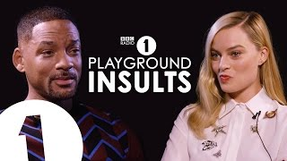 Will Smith & Margot Robbie Insult Each Other  CONTAINS STRONG LANGUAGE!