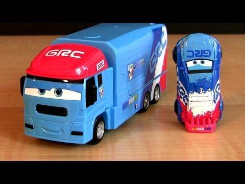 Stunt Racers Raoul Caroule Cars 2 Andre Transporting Transporter toys Truck Hauler Disney Pixar toy