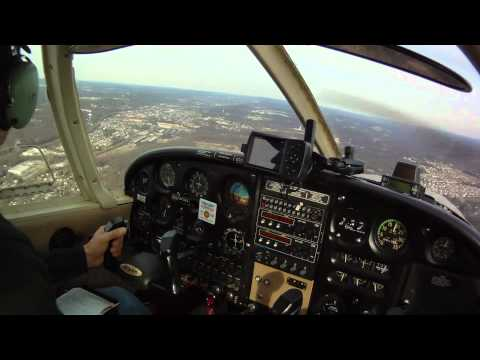 Brad Flying The Piper Cherokee 140/160 3-10-2012 at Chester County Airport