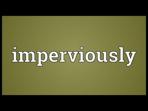 Header of imperviously