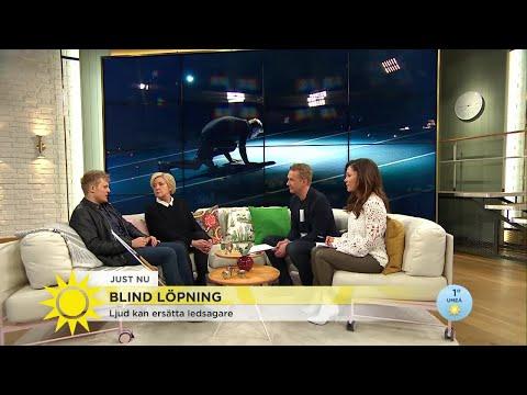 """Blind löpning: """"Fantastisk känsla att kunna springa helt själv"""" - Nyhetsmorgon (TV4)"""