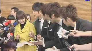 100114 FTV News Goo Hye Sun & Fahrenheit Film -touch your heart- MV in Taiwan