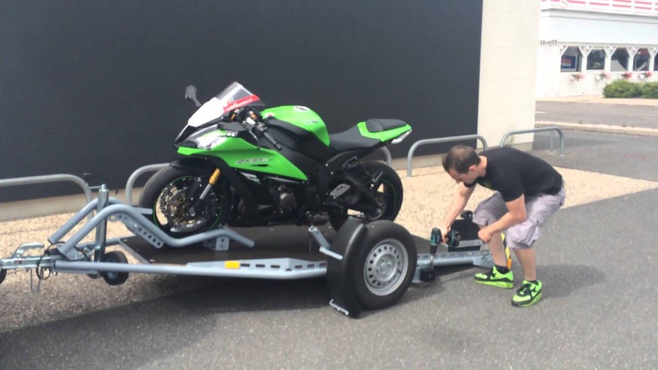 Remorque porte moto chargement au sol 123 remorque - Remorque porte moto occasion ...