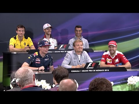The Drivers Face The Press | Monaco Grand Prix 2016