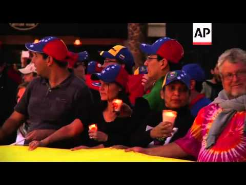 Vigils in 4 nations in Latin America to protest alleged human rights violations in Venezuela