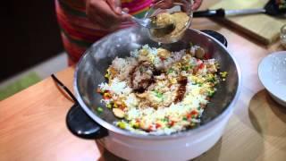 ครูสวนเข้าครัว :: ข้าวผัดสามสี