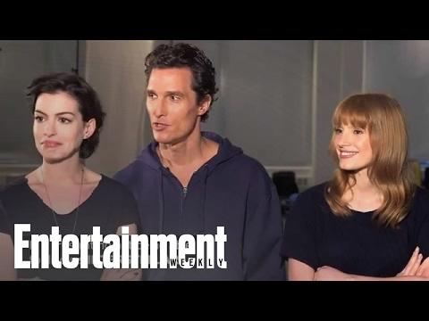 Matthew McConaughey, Anne Hathaway, and Jessica Chastain's 'Interstellar' EW cover shoot