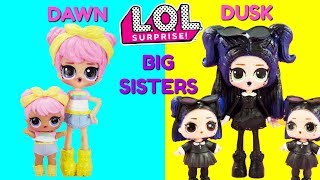 LOL SURPRISE Dawn & Dusk Big Sisters Compilation DIY Shopkins Shoppie Custom Makeover