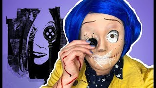 CORALINE MEETS THE OTHER MOTHER MAKEUP TUTORIAL!