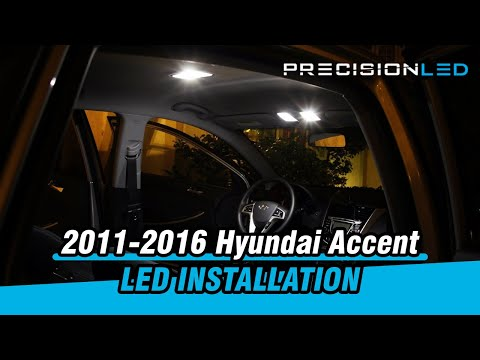 Hyundai Accent LED - How to Install LED Interior Lights 2011+