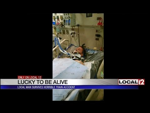 Lucky to be alive: Local man survives horrible train accident