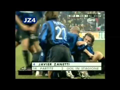 Tutti i gol di Javier Zanetti all'Inter.