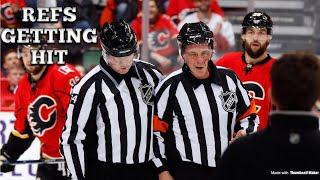 (NHL) REFS GETTING HIT