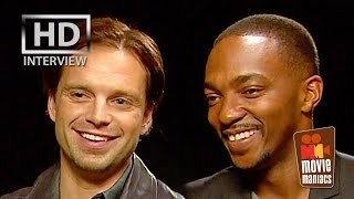Sebastian Stan & Anthony Mackie on Captain America Civil War