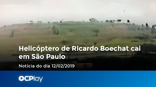 Câmera de segurança flagra helicóptero de Boechat caindo em SP