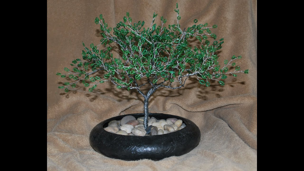 26 Gauge Wire >> Beaded Wire Tree Demonstration - YouTube