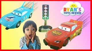 Disney Cars Toys Lightning McQueen and The King Launcher Play Set