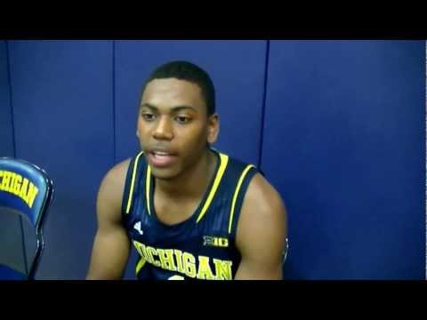 Glenn Robinson III at Michigan Basketball Media Day 2012-13