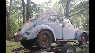 1958 Ragtop VW Bug Found sitting since 1983 : 58 Vintage Volkswagen Beetle Restoration Project