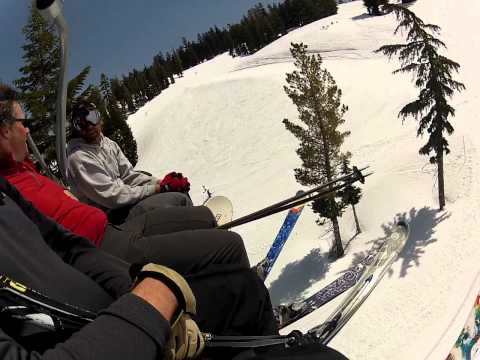 Riding Shirley Lake Express Chair Lift Squaw Valley USA