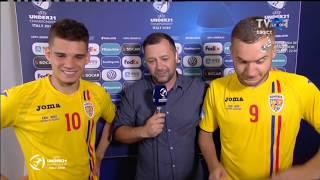 Interviu cu Ianis Hagi şi George Puşcaş, după Anglia – România: 2-4, la#EURO2019
