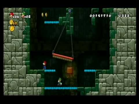 NEW SUPER MARIO BROS WII-ALM1GHTY & WIFEY-WALKTHROUGH-WORLD 1-FORTRESS Video