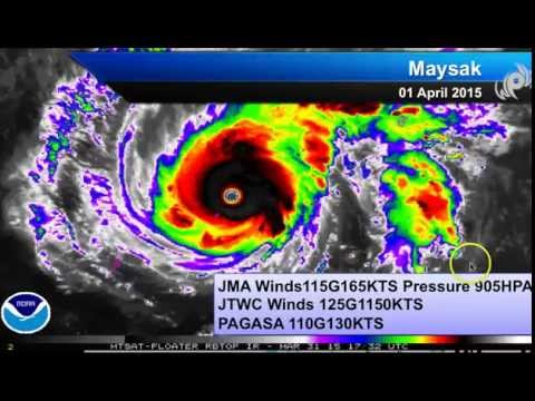 Typhoon Maysak Breaks Records , Impact in Philippines Easter Sunday