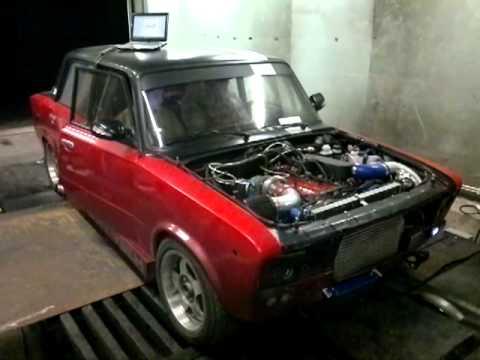 ВАЗ 2106 16v turbo замер мощности 520 л.с.