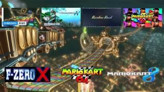 N64 Rainbow Road Mega Mashup: (Original + F-Zero X + MK8 +MK7 + Remixes)