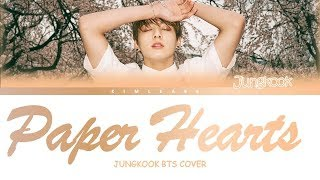 Jungkook (BTS) - Paper Hearts (Tori Kelly Cover) sub indo/eng/lyrics/color coded