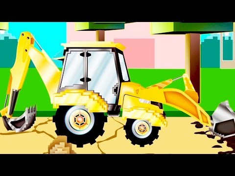 Koparka | Pipo I Jego Laweta| Kreskówka Jak Minecraft Dla Dzieci
