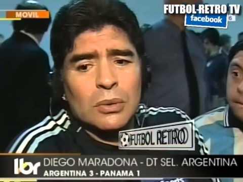 Maradona post ARG vs PANAMA 2009