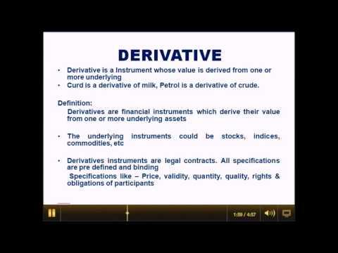 derivative 1  in Hindi & English Stock Market Training Bangalore & India.