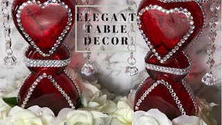 🌹DIY GLAM Romantic Valentine Decor using Dollar Tree Items🌹